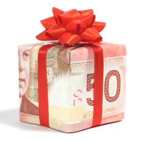 canadian money gift