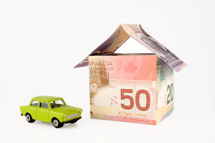 canada money house with car